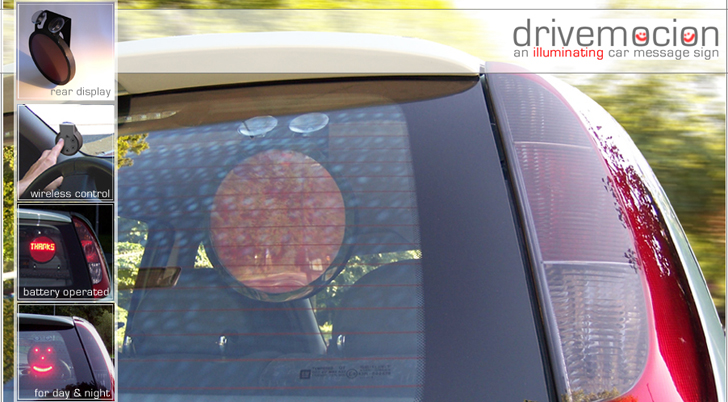 Drivemocion - Illuminated rear window car sign